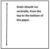Paper grain orientation