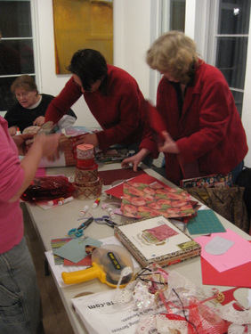 Book Arts Guild of Vermont - Making Valentines 2009