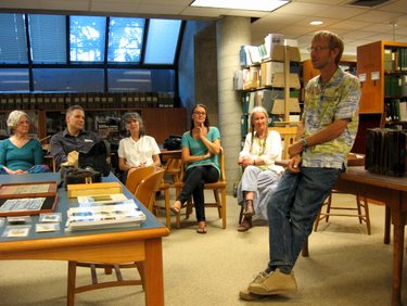 Book Arts Guild of Vermont - Peter & Donna Thomas at UVM Special Collections - August 2010