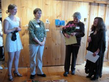 Recognizing book artist Nancy Stone for her work with the Book Arts Guild of Vermont