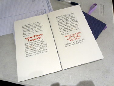Book Arts Guild of Vermont - Calligraphy and Manuscript Gilding with Maryanne Grebenstein - November 2011